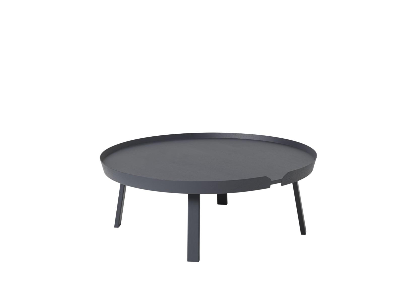 Around Extra Large Coffee Table Dark Grey