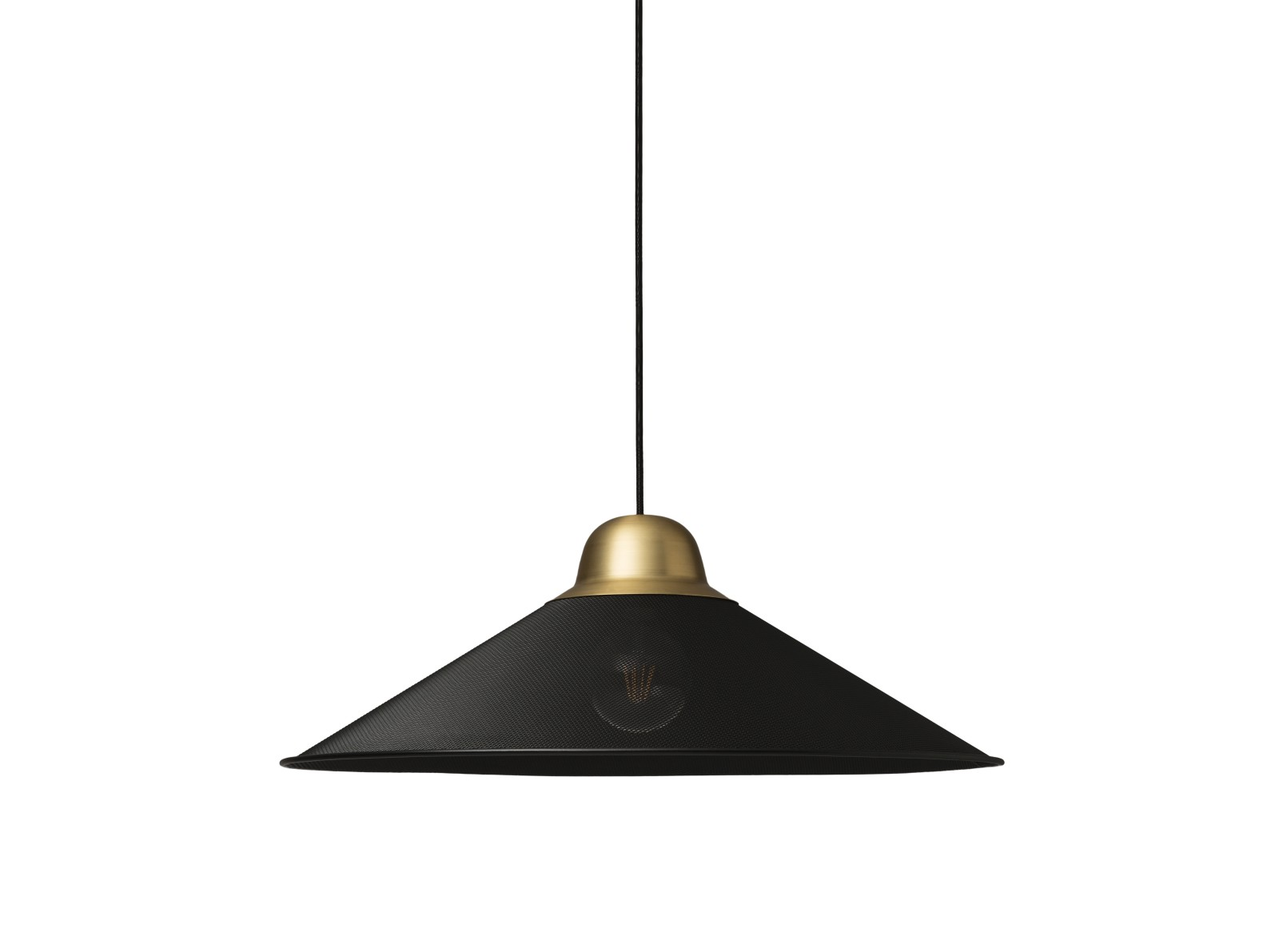 Aura Pendant Light Black, brass, Large