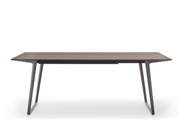Axy Comfort Dining Table 90x240cm, Graphite Grey, Anthracite Oak
