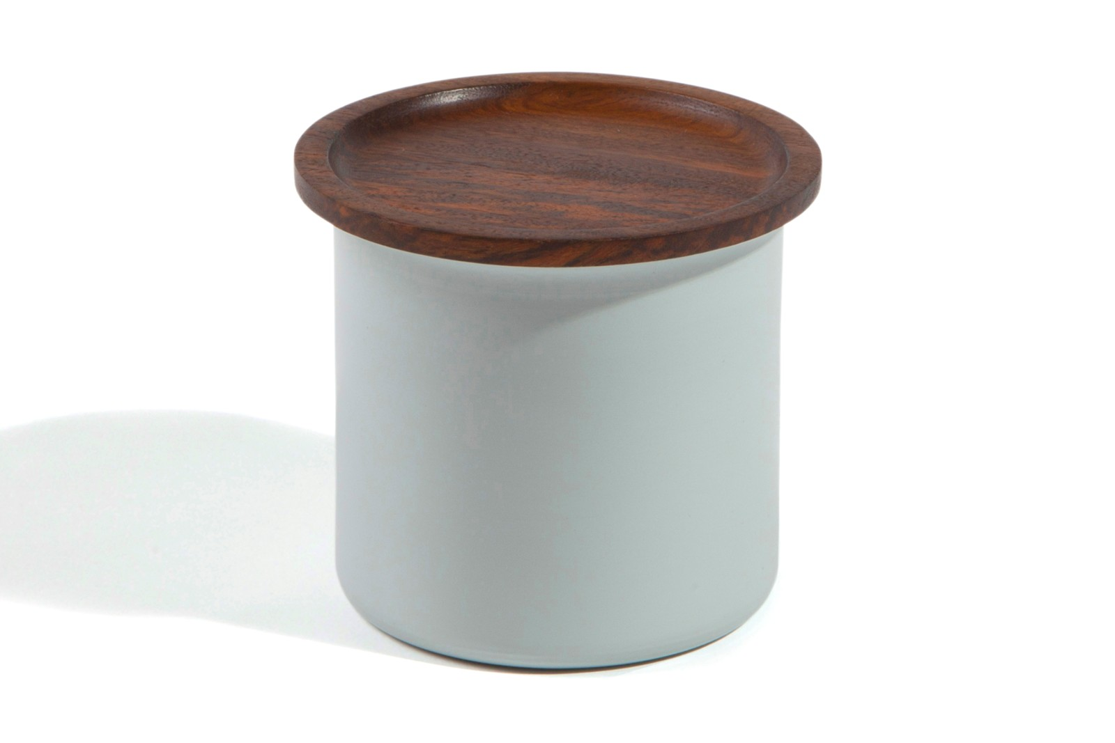 Ayasa Storage Container Grey with Wooden Lid, 0.5L