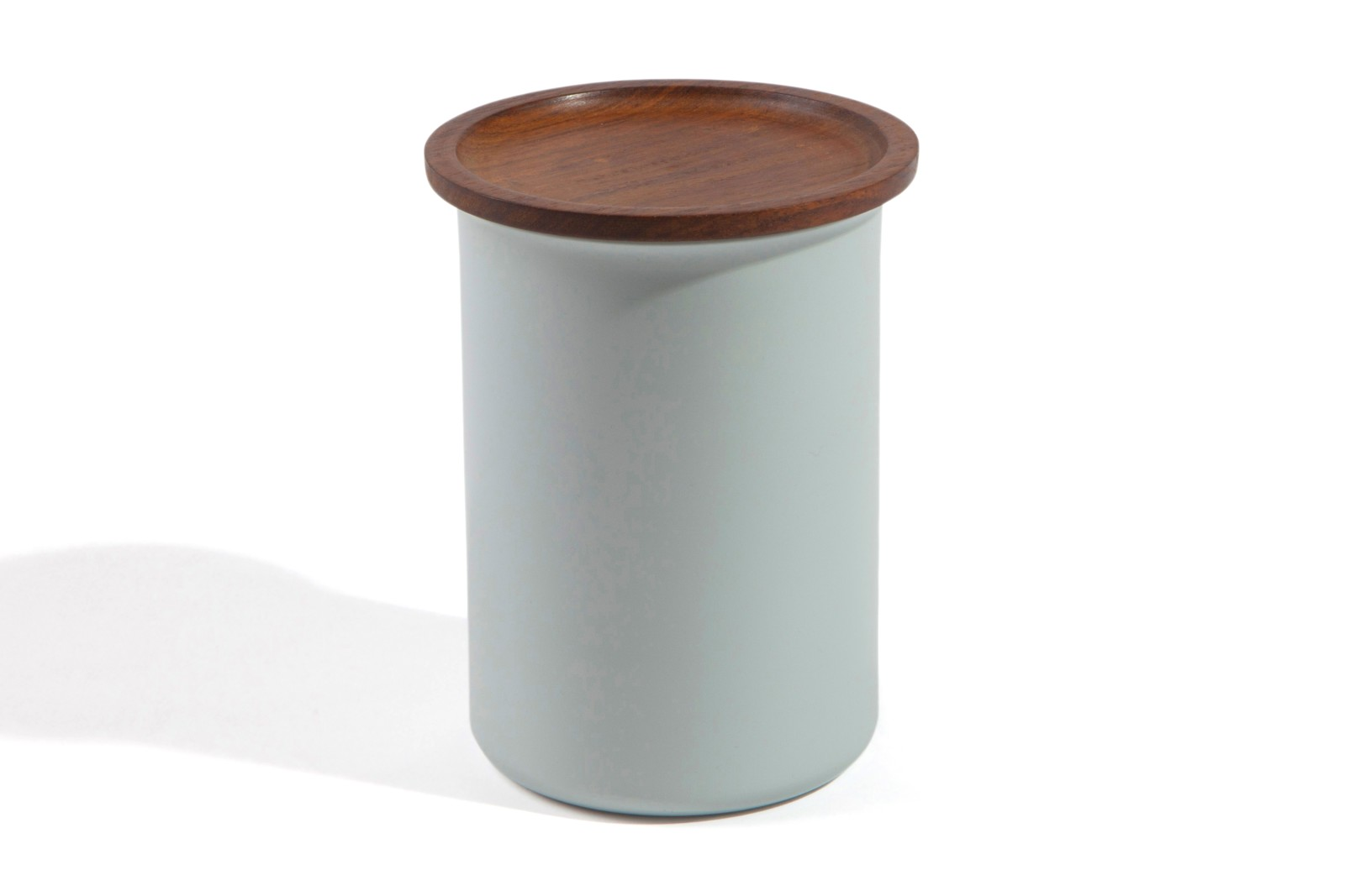 Ayasa Storage Container Grey with Wooden Lid, 0.75L