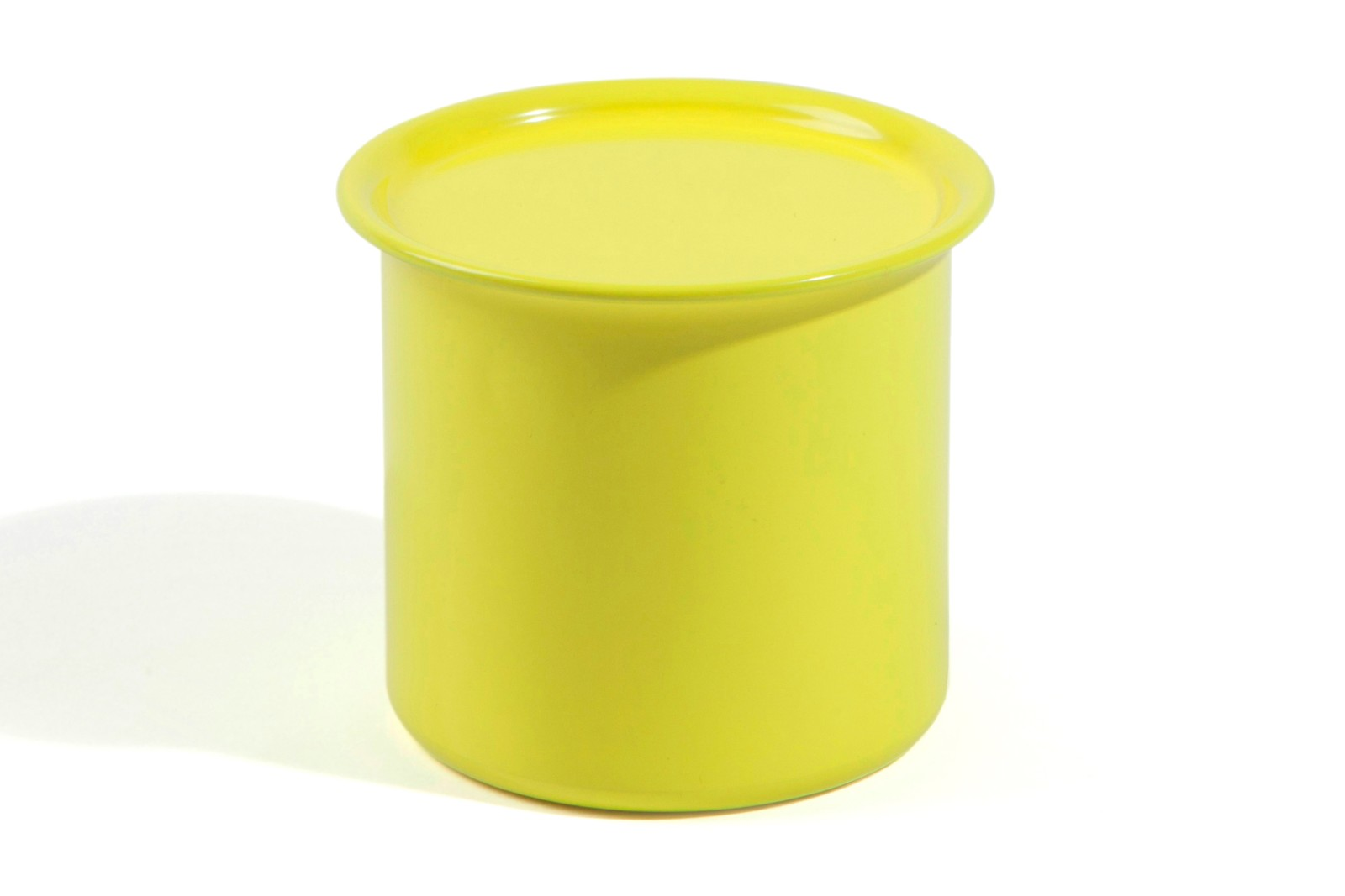 Ayasa Storage Container Yellow with Metal Lid, 0.5L