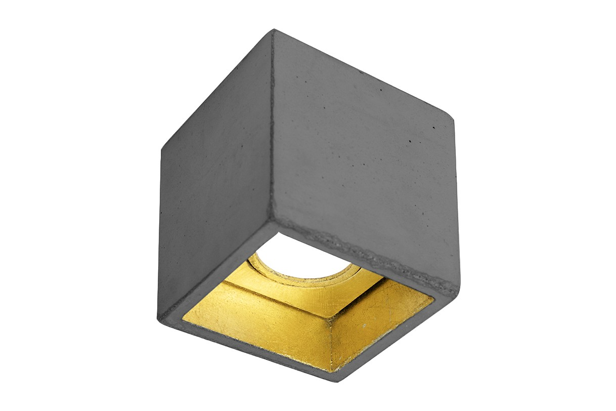 [B7] Ceiling Light Dark Grey/Gold