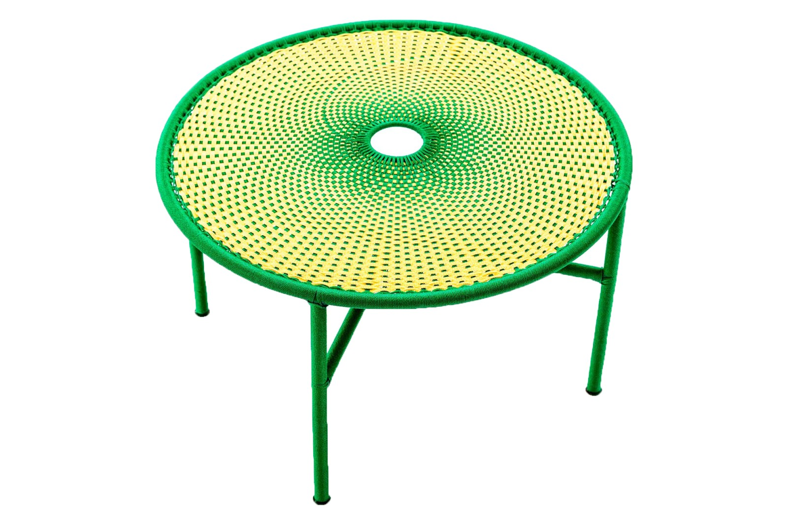 Banjooli Coffee Table Light Yellow and Green, Large