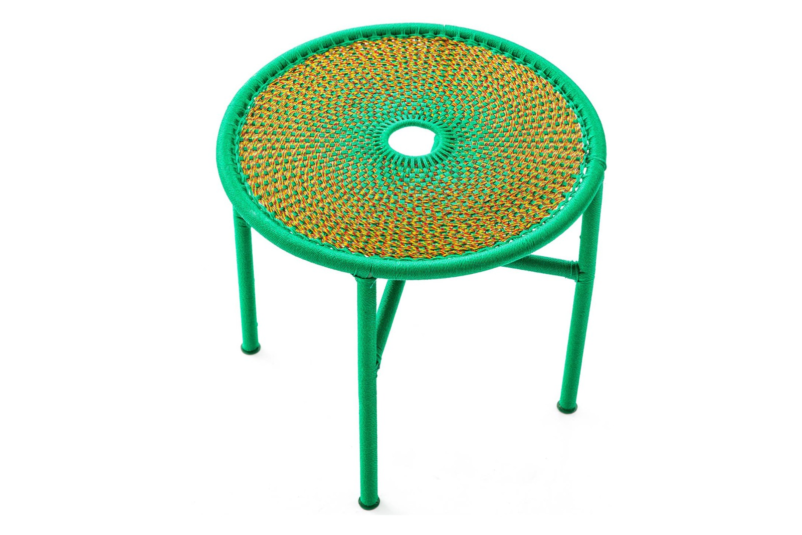 Banjooli Side Table Gold and Green, Large