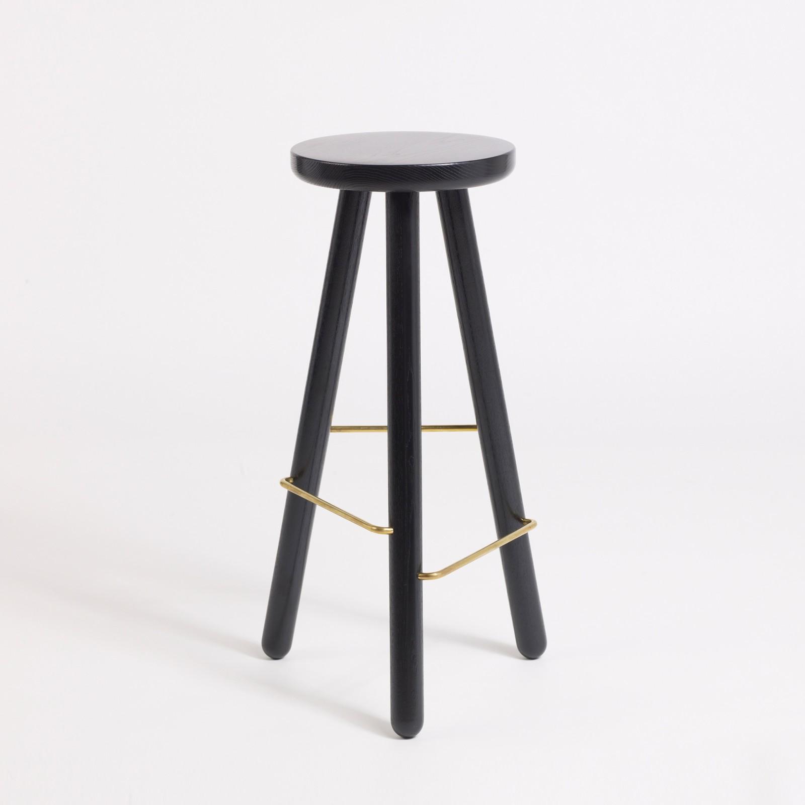 Bar Stool One Black, 65 cm Height