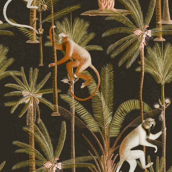 Barbados Anthracite Wallpaper