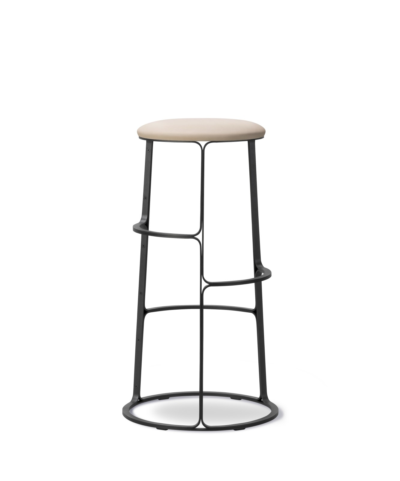 Barbry Stool - With Seat Upholstery Leather 90 Nature