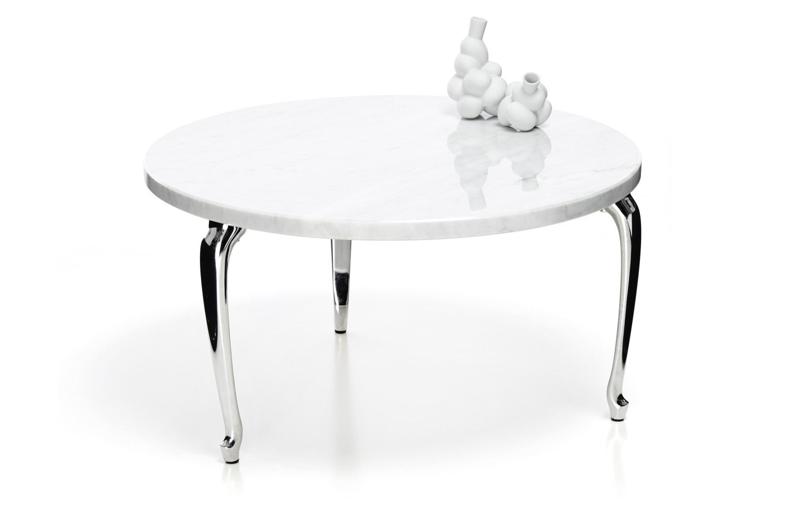 Bassotti Coffee Table - Round High, White