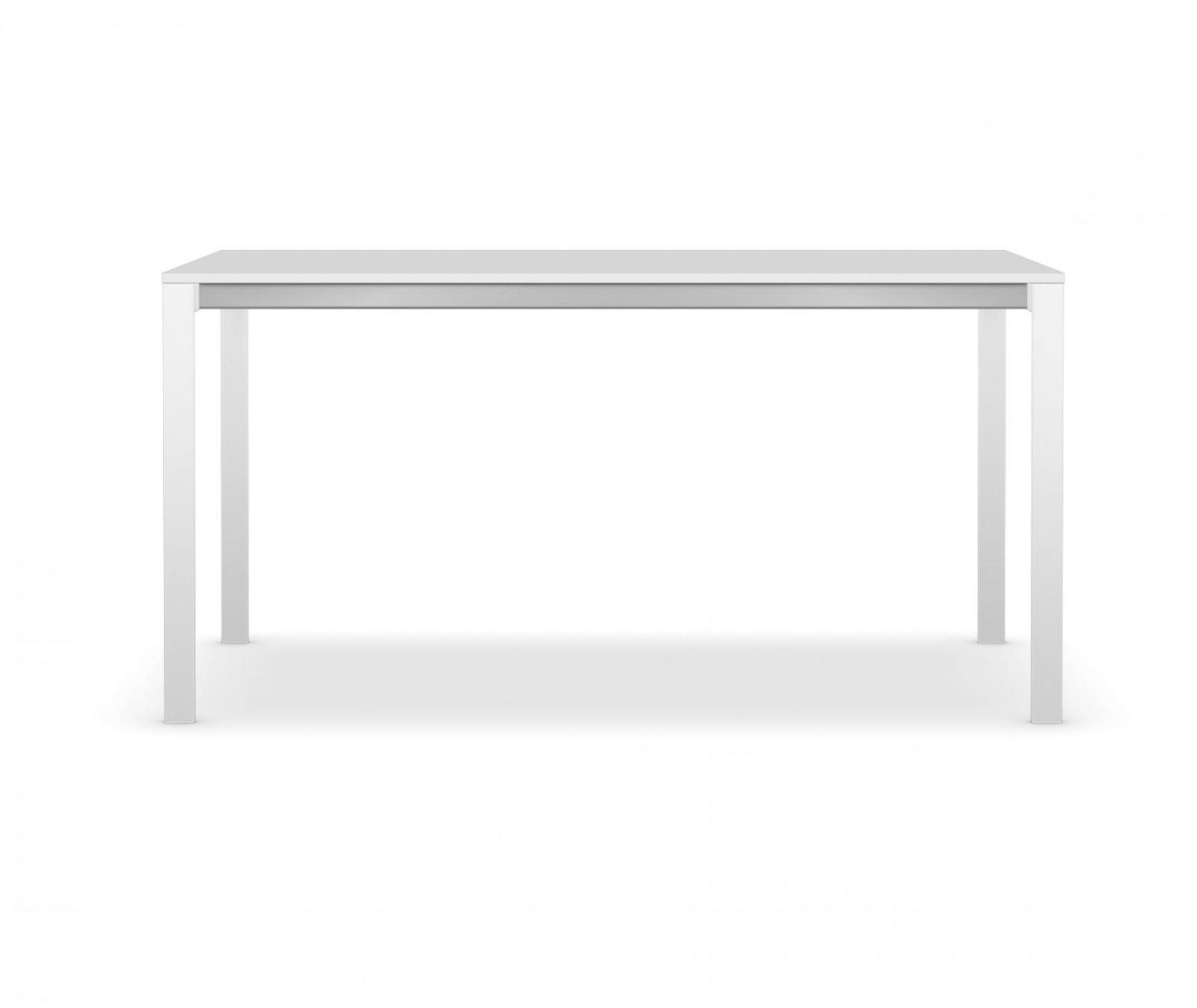 be-Easy Fixed Table White lacquered steel, Kos white 0032 Fenix-NTM®, L150 x D89cm