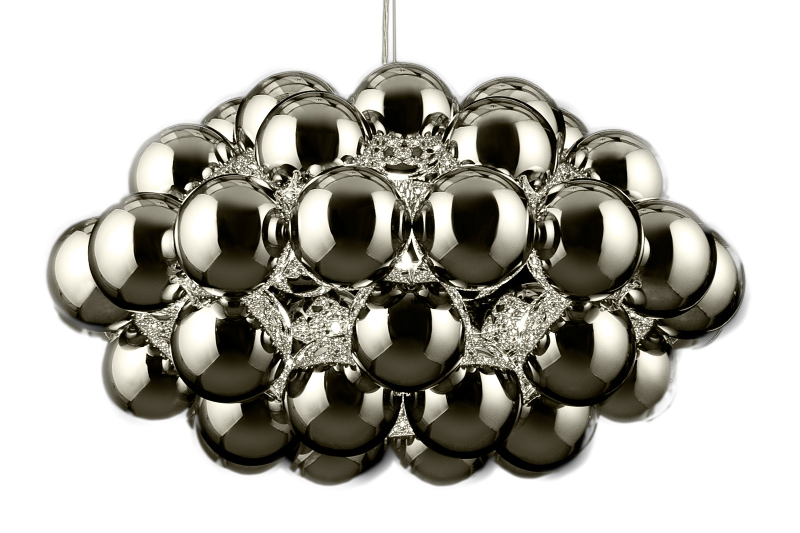 Beads Octo Pendant Light Silver