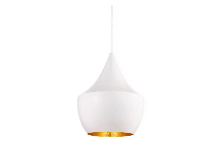 Beat Fat Pendant Light White-Brass