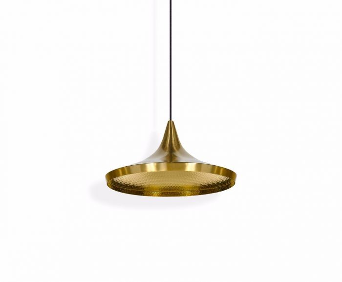 Beat Wide Pendant Light Brass