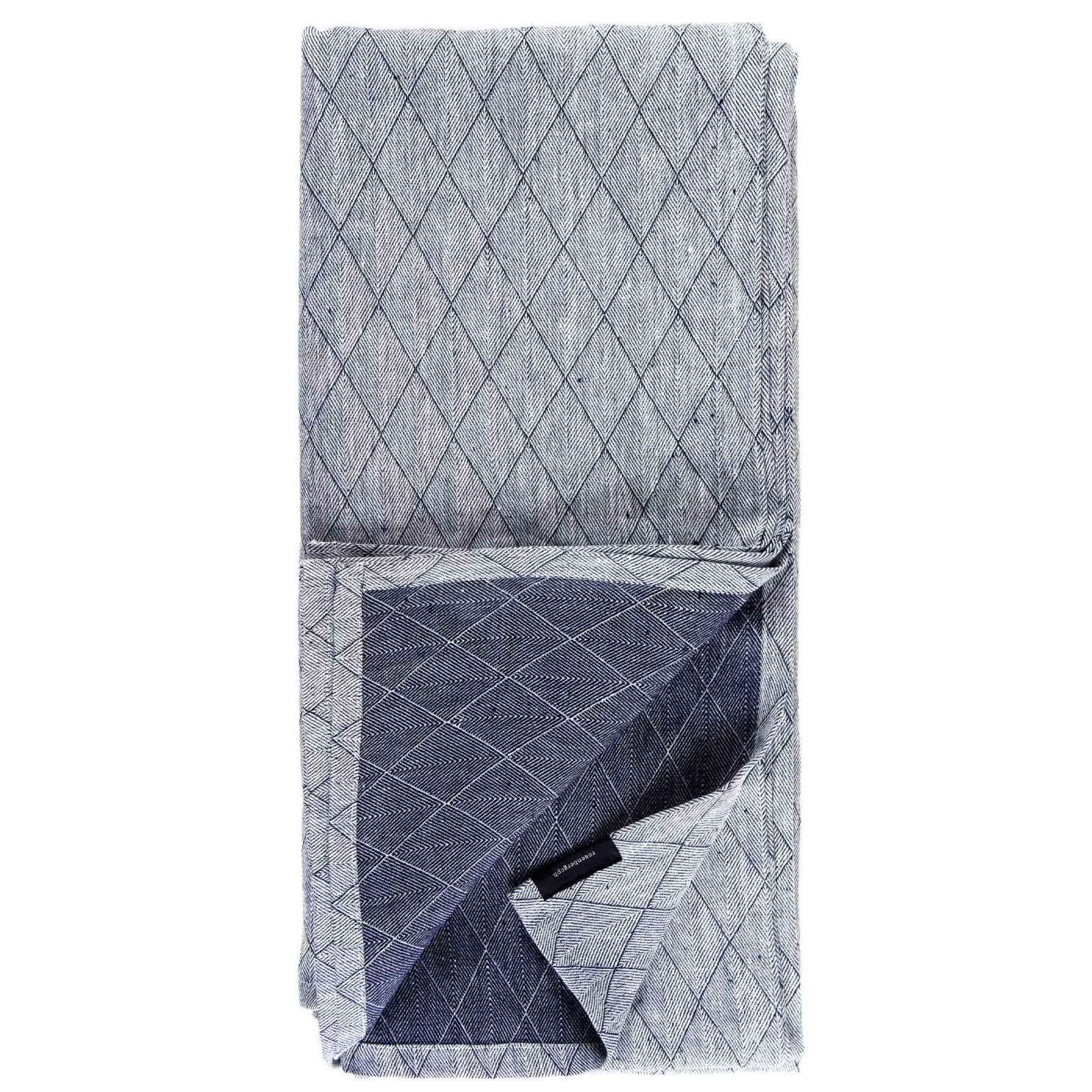 Bedspread navy blue, 240cm width