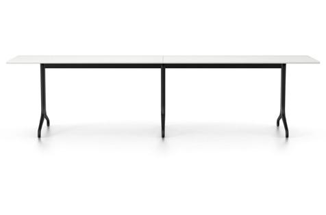 Belleville Rectangular Dining Table Melamine white