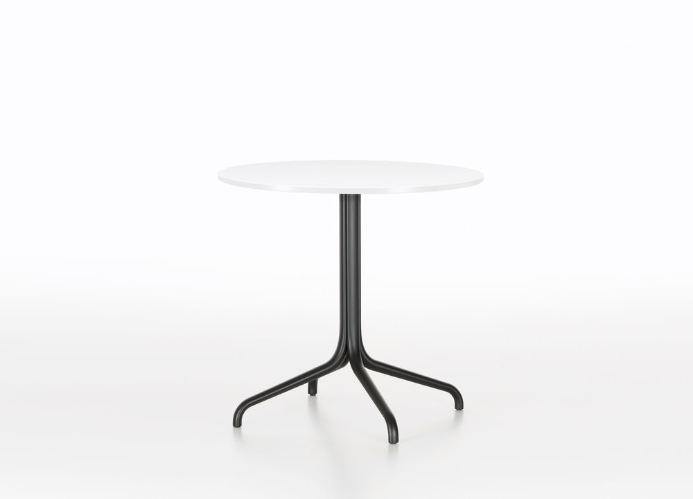 Belleville Round Dining Table Melamine white