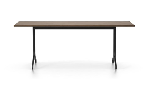 Belleville Solid Top Rectangular Dining Table 200 x 80 cm, Solid American walnut oiled