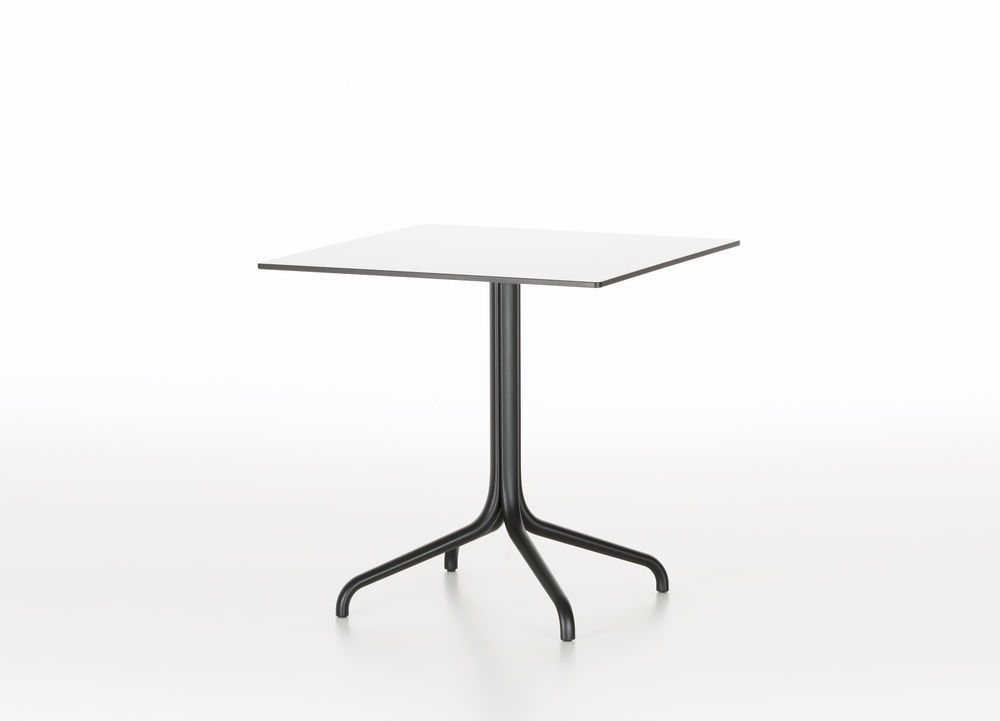 Belleville Square Outdoor Table Solid core material black