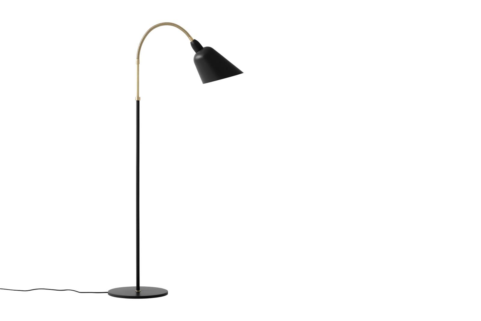 Bellevue AJ7 Floor Lamp Black & Brass