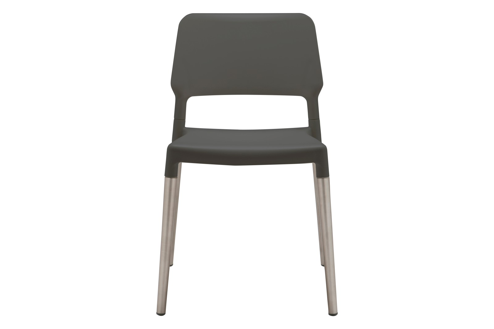 Belloch Dining Chair Black with Aluminium Legs