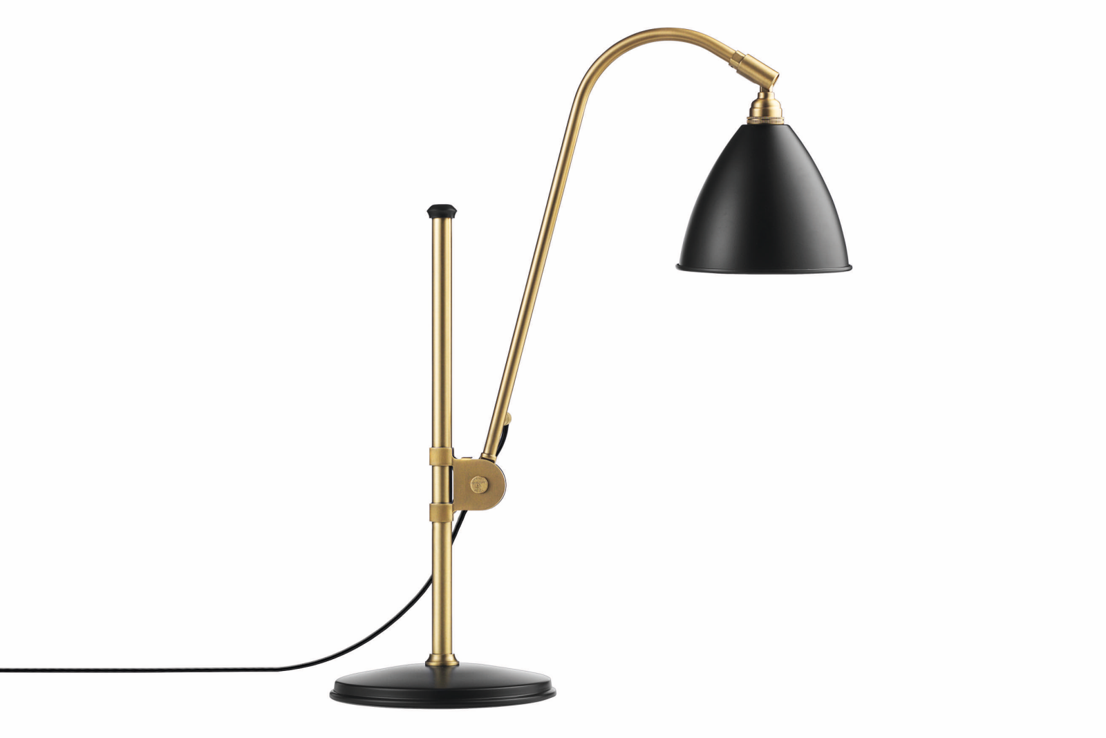 Bestlite BL1 Table Lamp Charcoal Black and Brass