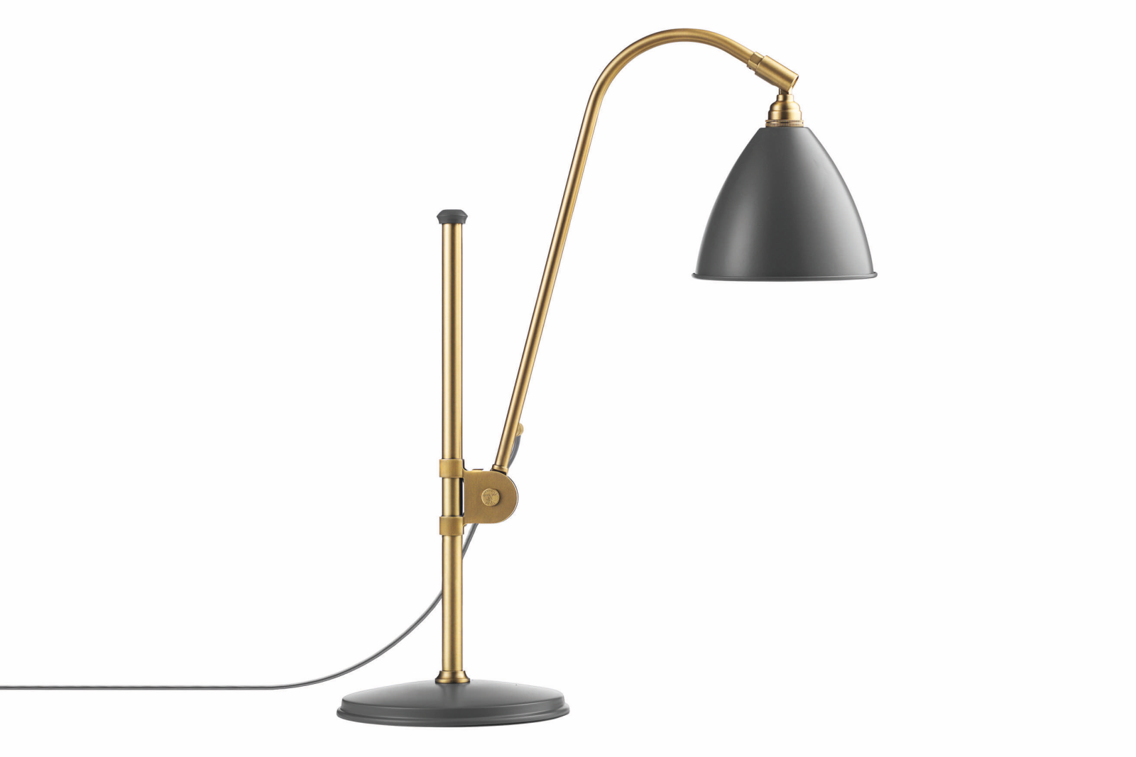 Bestlite BL1 Table Lamp Grey and Brass