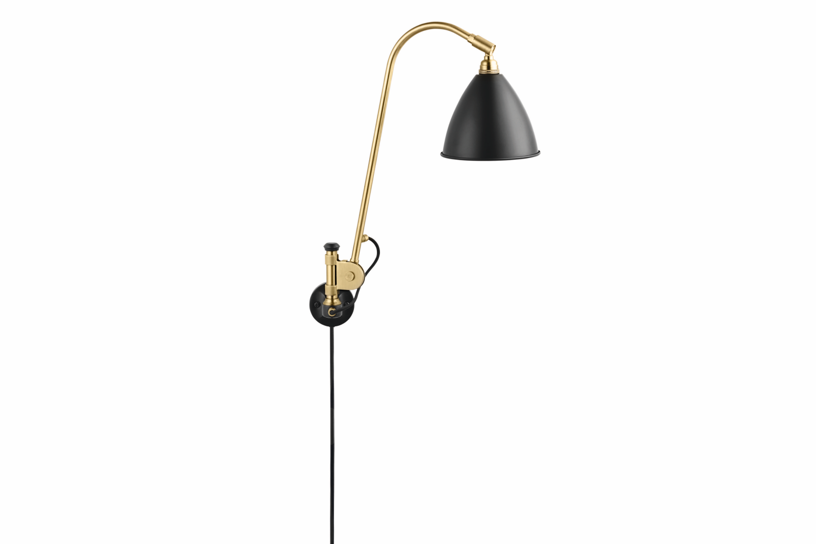 Bestlite BL6 Wired Wall Light Charcoal Black and Brass