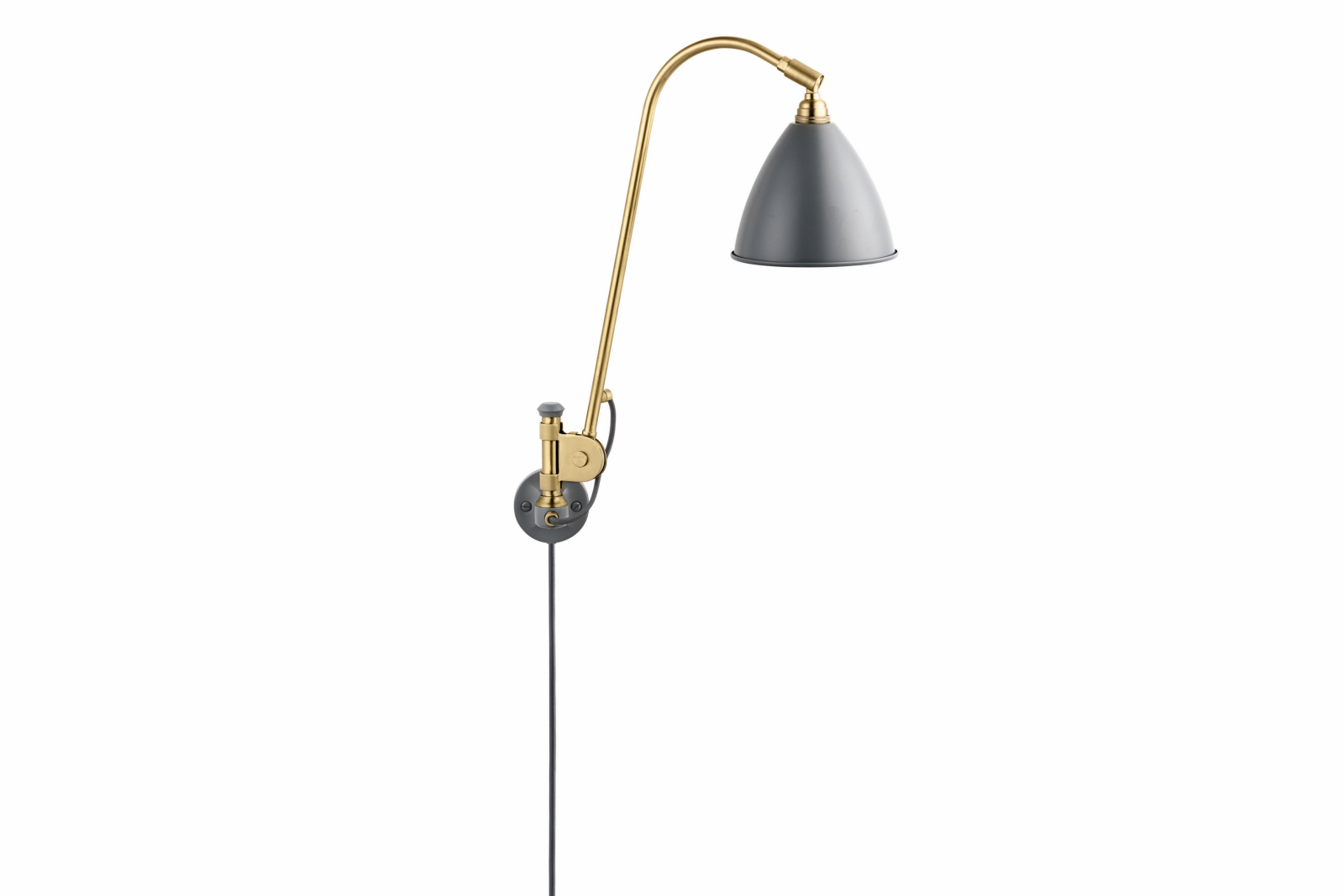 Bestlite BL6 Wired Wall Light Grey and Brass