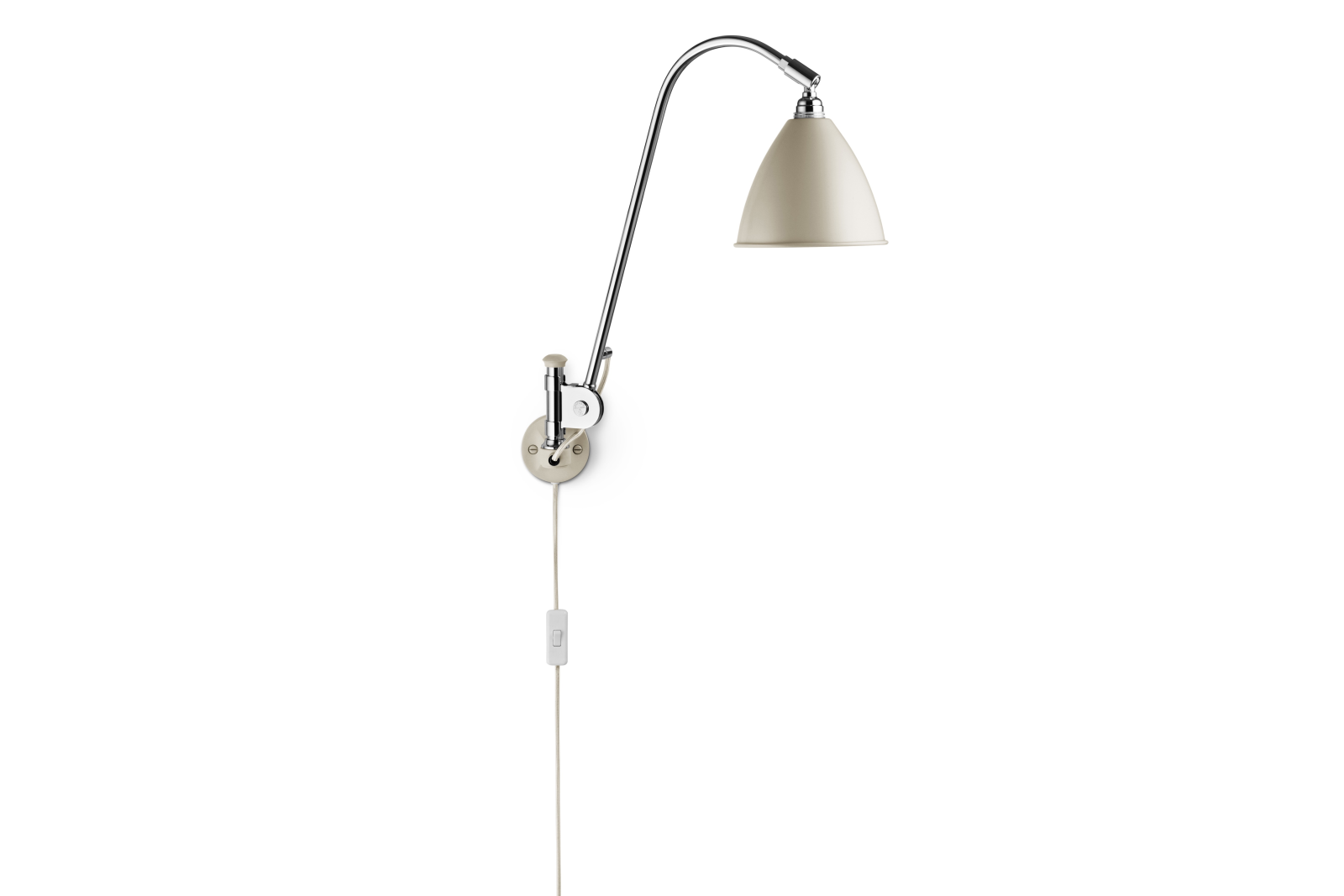 Bestlite BL6 Wired Wall Light Off-white, Chrome-plated Steel