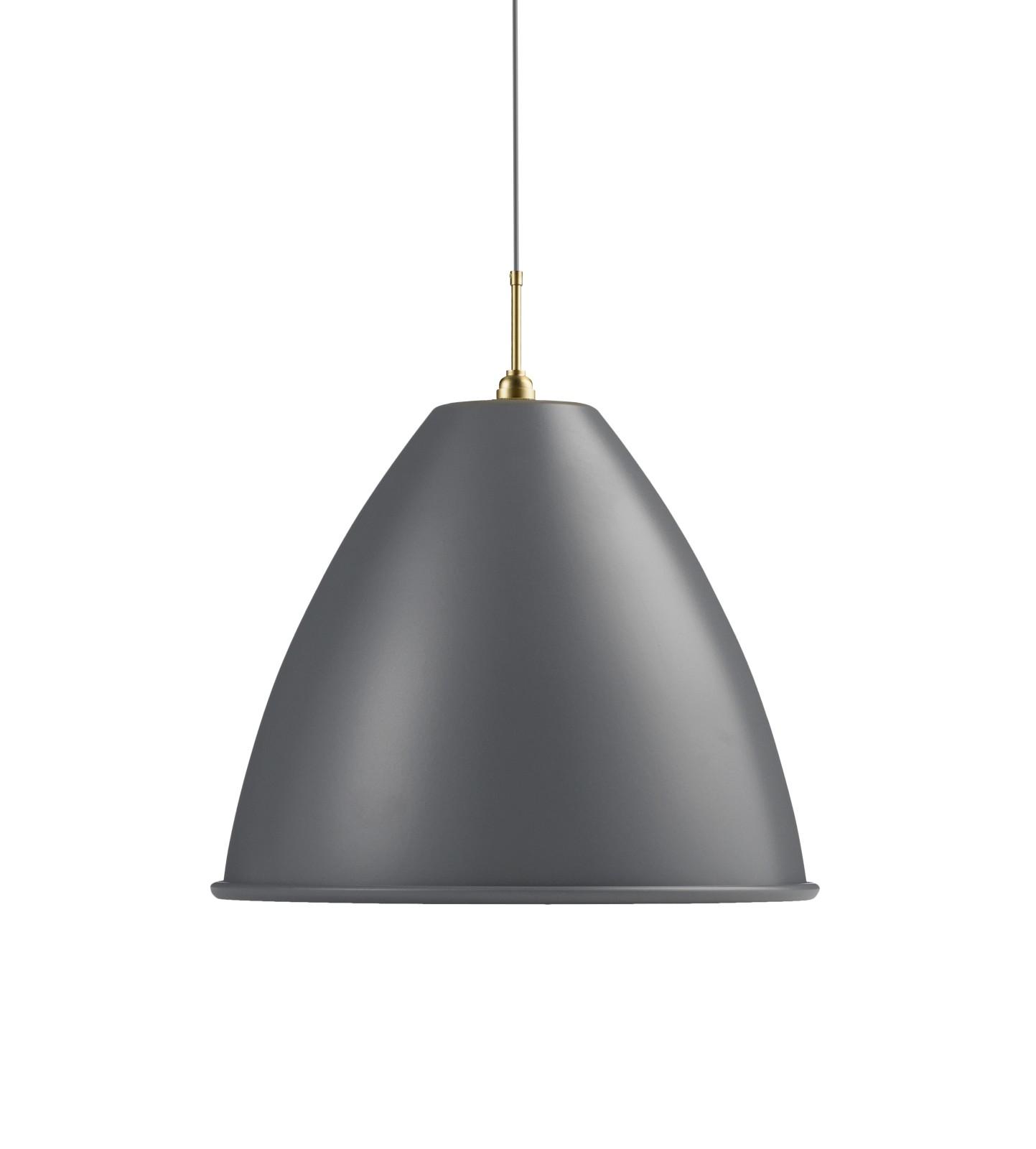 Bestlite BL9 Extra Large Pendant Lamp Grey/Brass