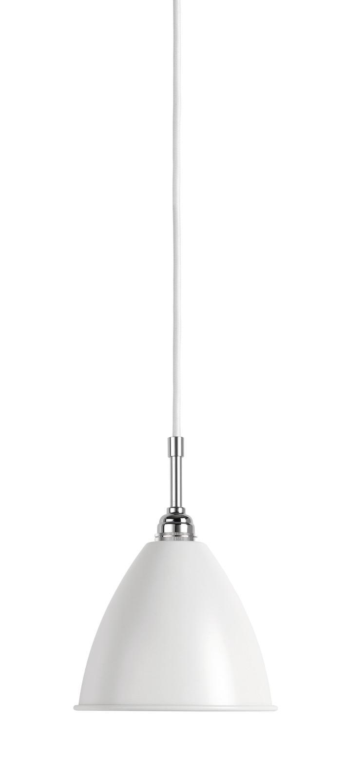 Bestlite BL9 Small Pendant Lamp Matt White/Chrome