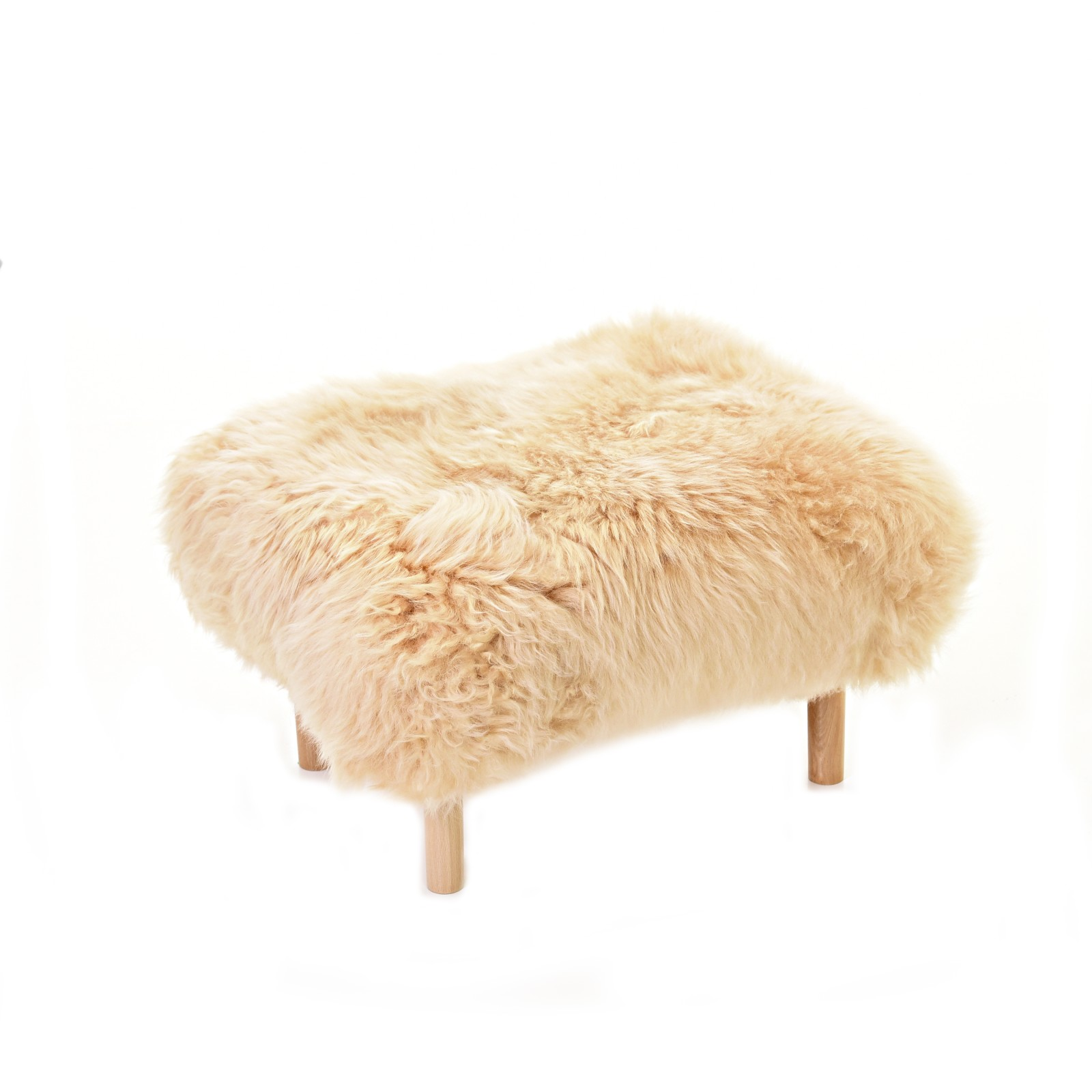 Bethan Sheepskin Footstool Buttermilk