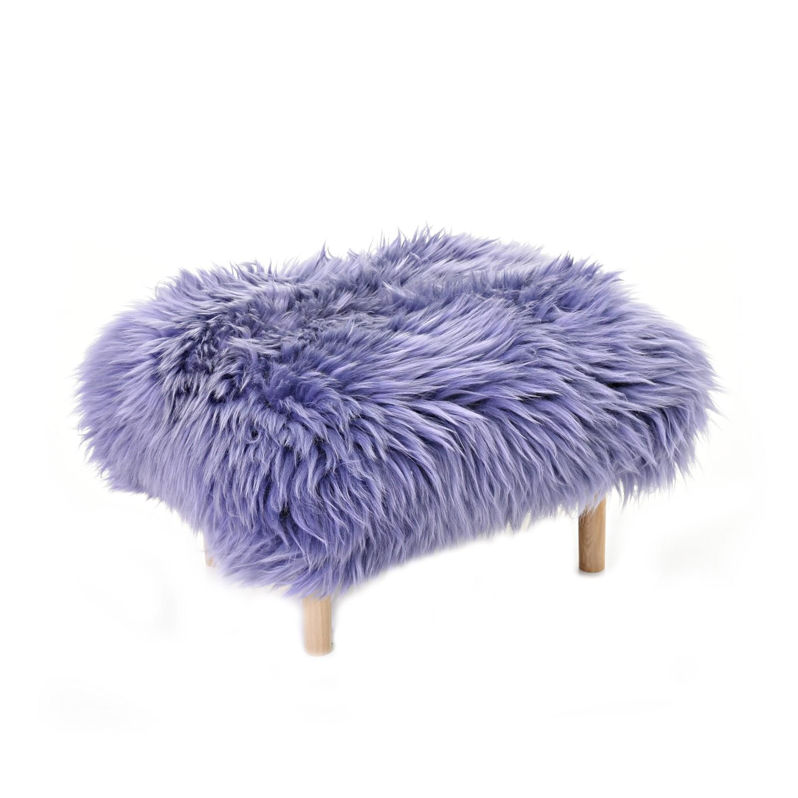 Bethan Sheepskin Footstool Lilac