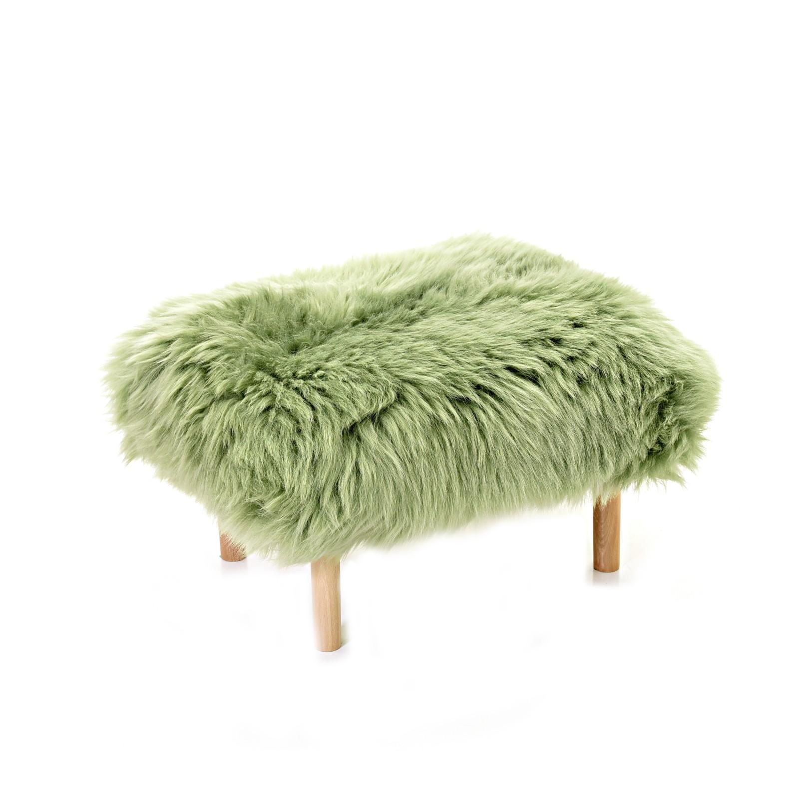 Bethan Sheepskin Footstool Sage