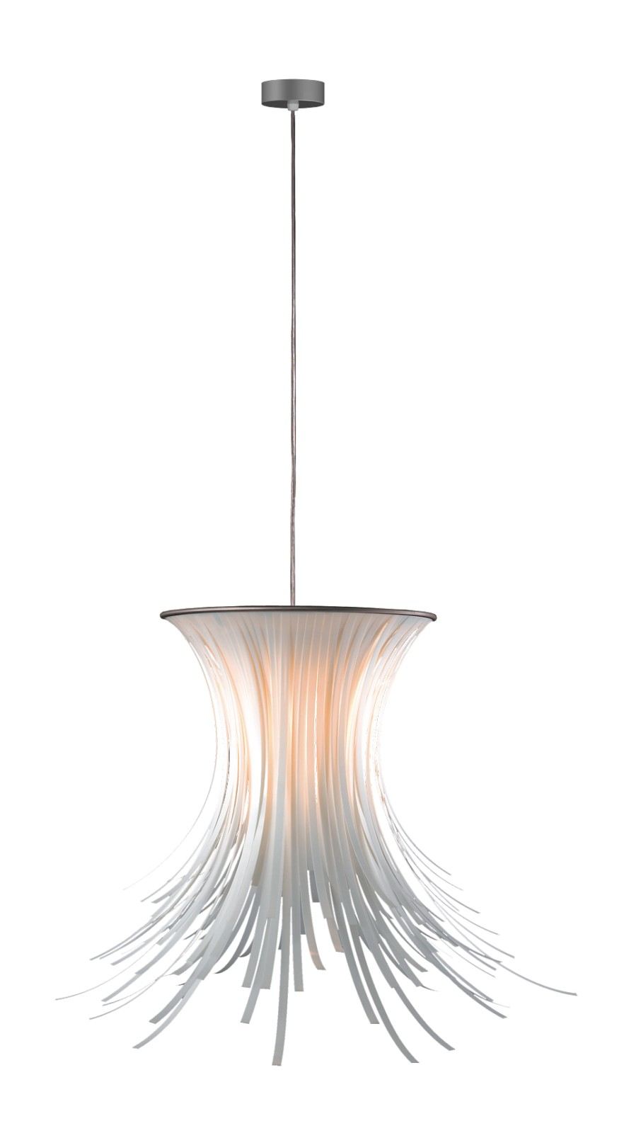 Bety Pendant Lamp Transparent Cable, White