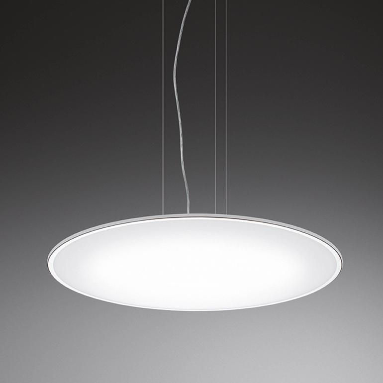 Big Pendant Light Matt White Lacquer, 120cm, No