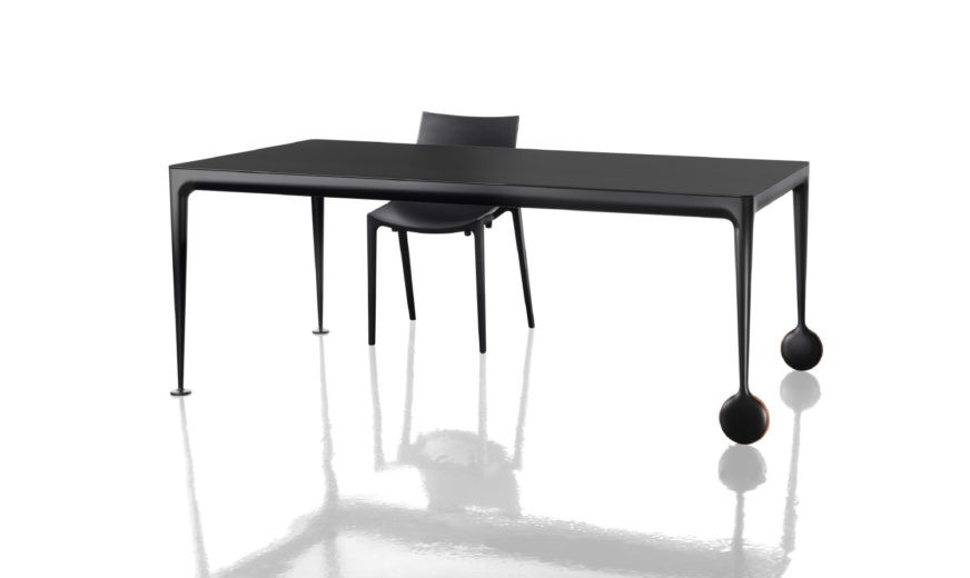 Big Will Extending Table Black Frame and Top
