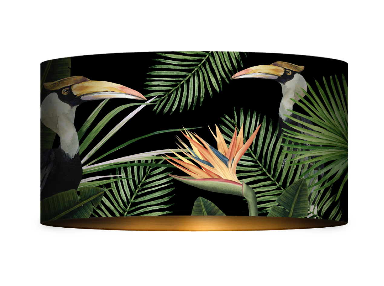 Birds of Paradise Drum Table/Floor Shade