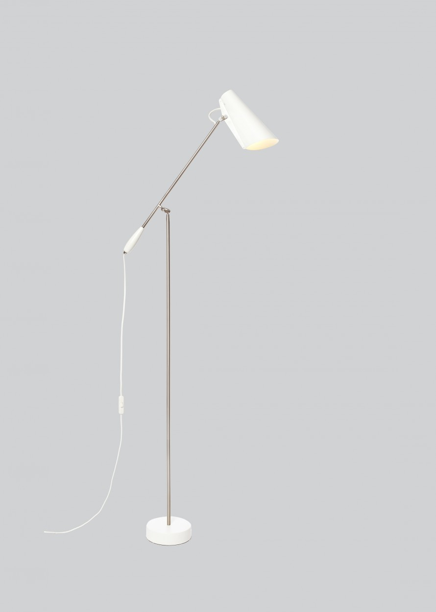 Birdy Floor Lamp White/Metallic, Type G Plug
