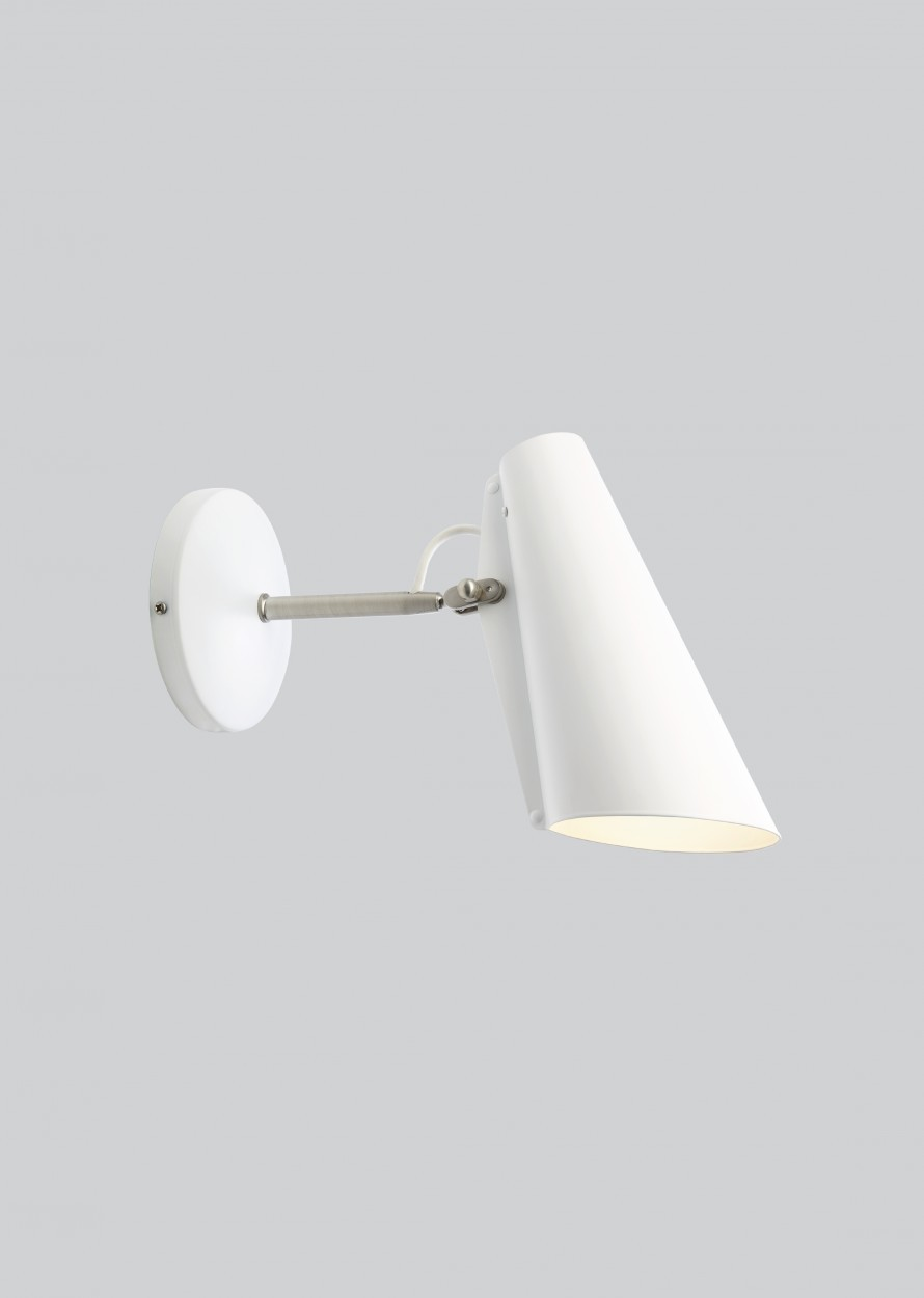 Birdy Short Arm Wall Light White/Metallic