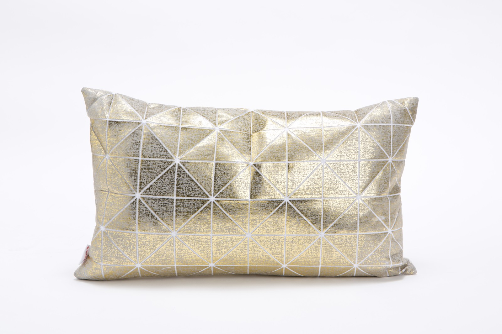 Bling Origami Rectangular Cushion Cover Bling Grey & Gold s