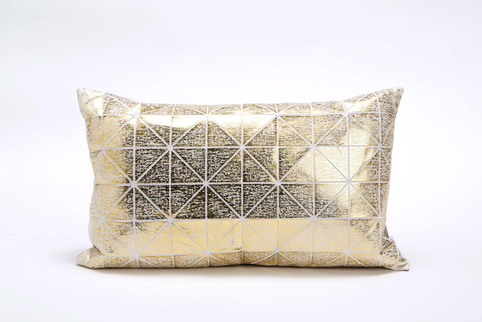 Bling Origami Rectangular Cushion Cover BingC GLDs