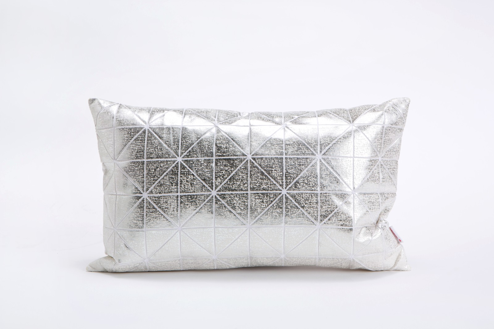 Bling Origami Rectangular Cushion Cover Bling Silver s