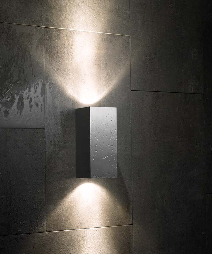 Blok Out Wall Lamp 15, 1L, Silver Anodised