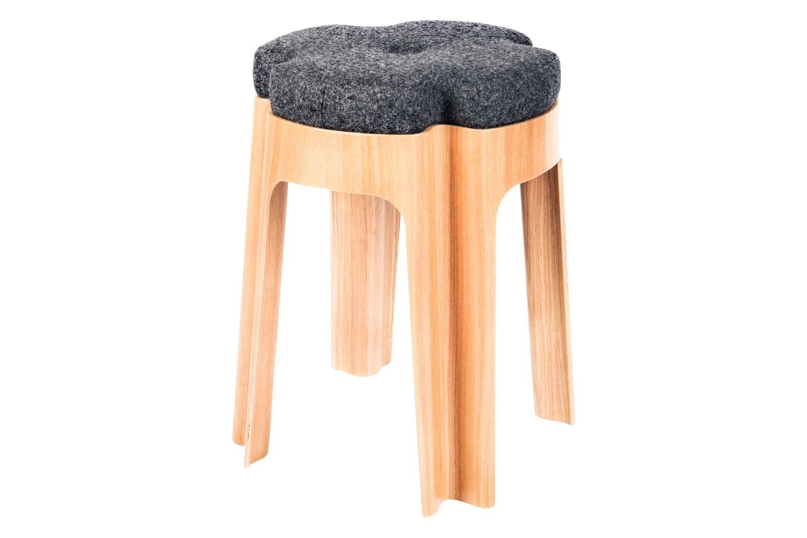 Bloom Upholstered Stool Dark Grey