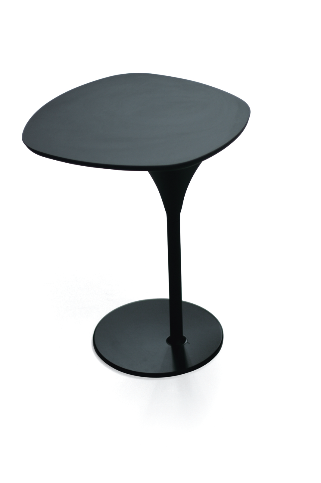 Bloomy Side Table Black Base and Black Top