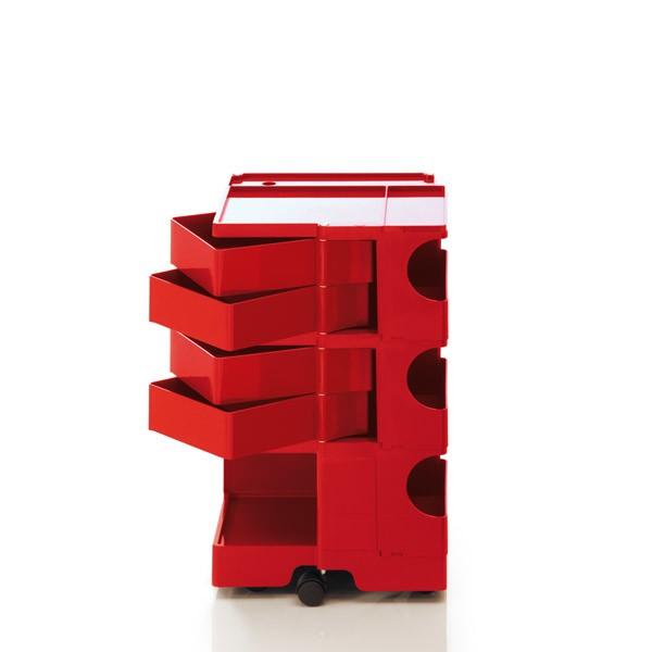 Boby Trolley Storage - Medium Red, 4