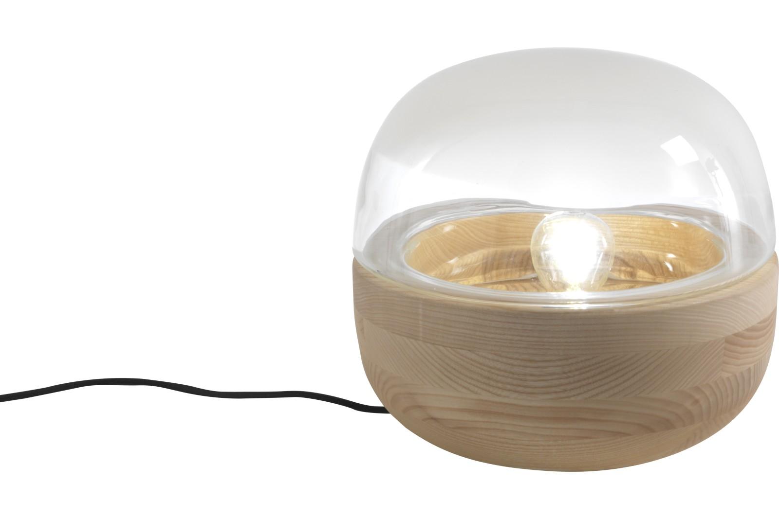 Bolla Table Lamp Natural Ash, Silk Glass