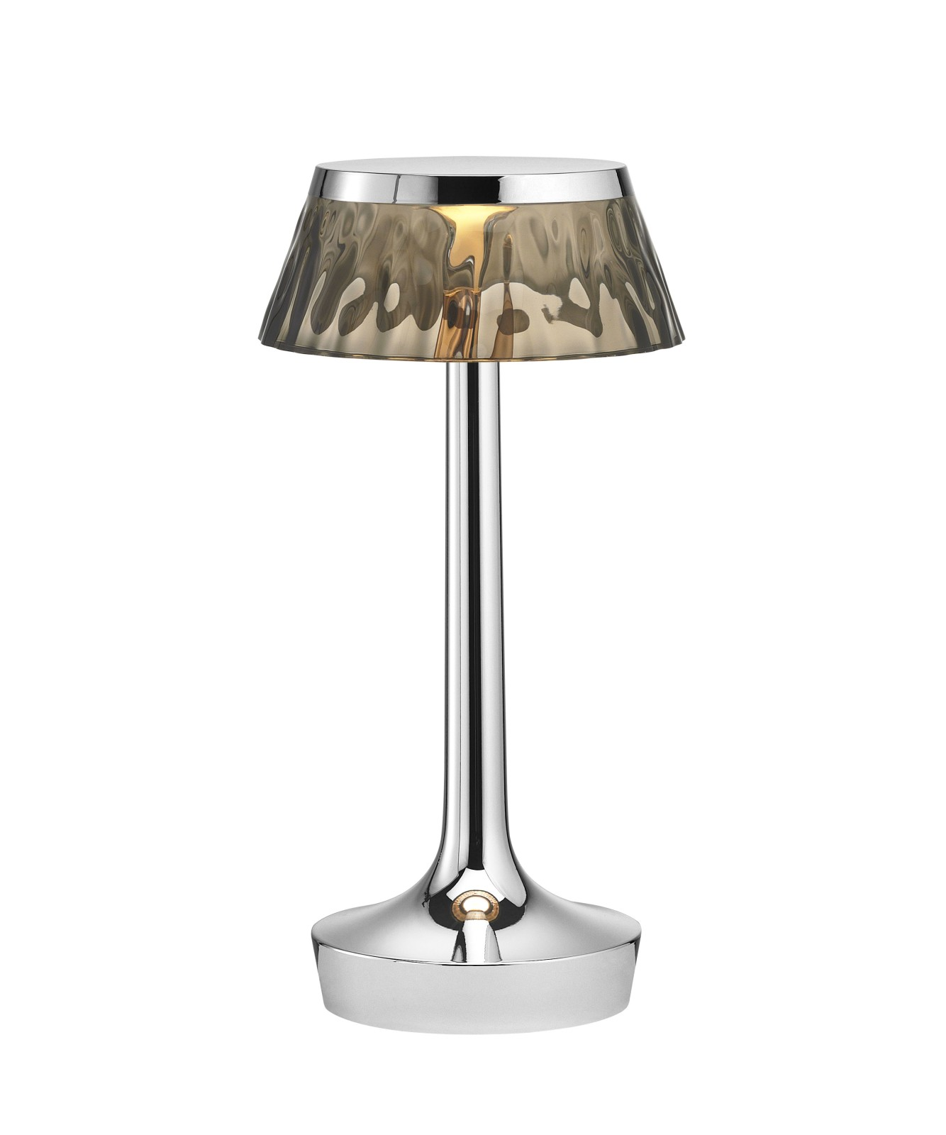 Bon Jour Unplugged Table Lamp Chrome finish, Fumée shade