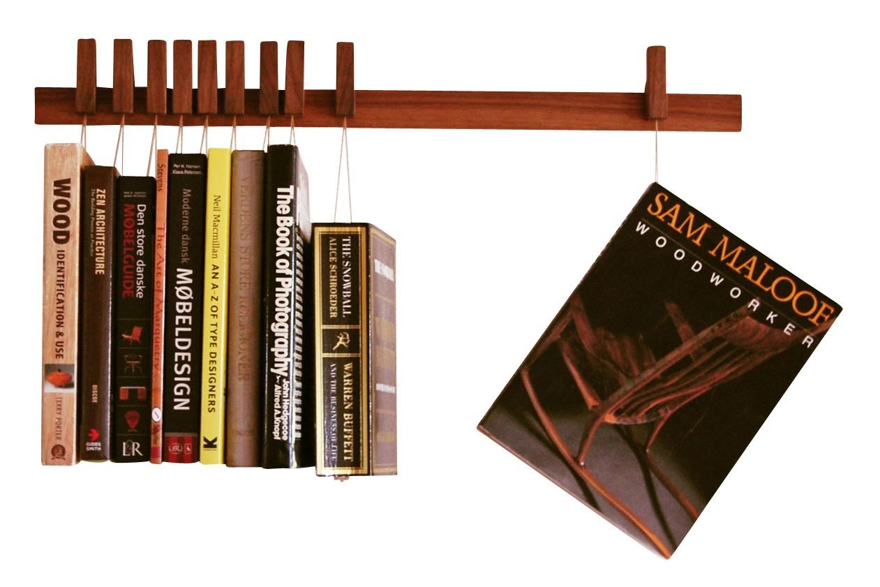Book Rack Walnut, Beige, Long